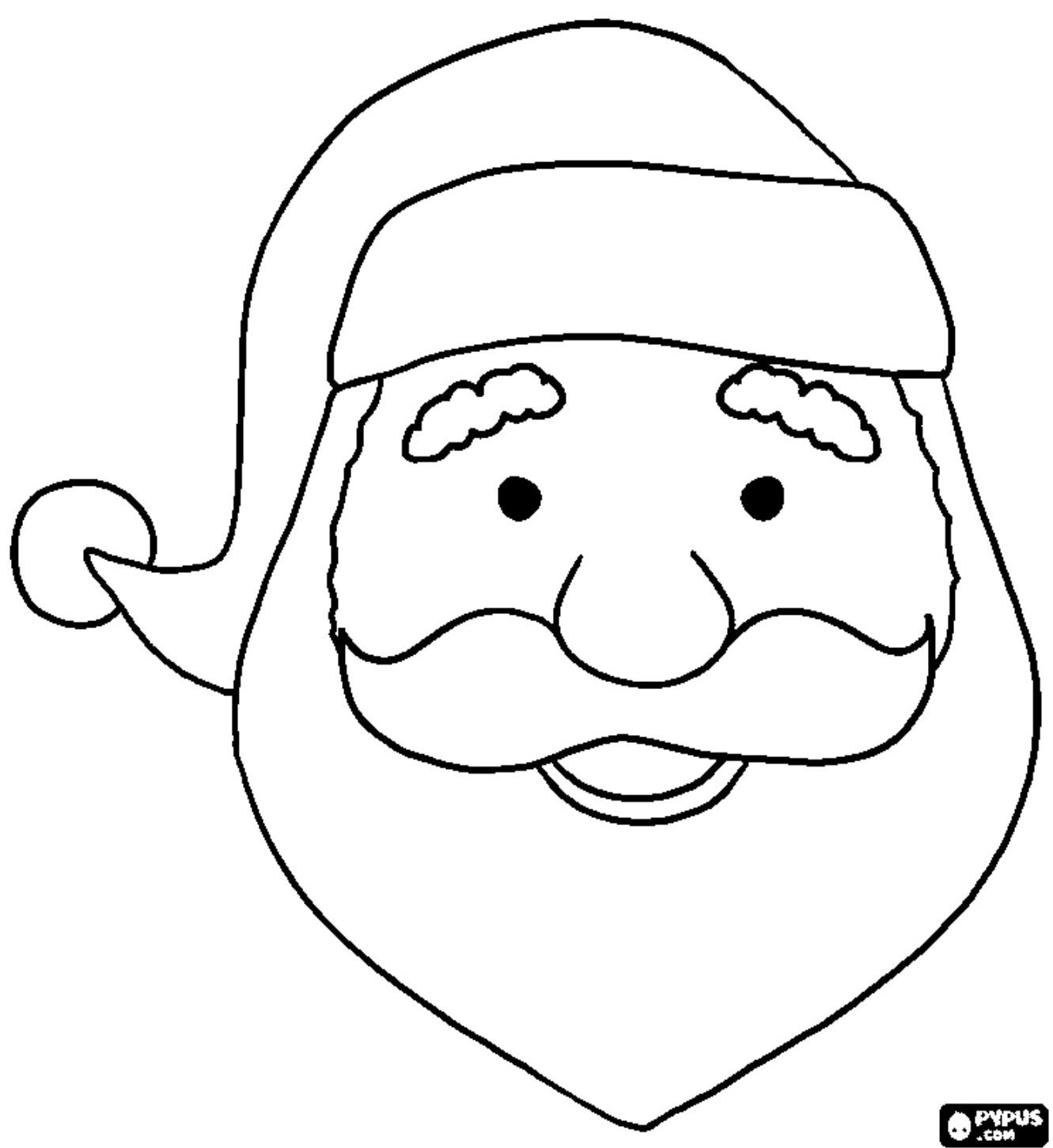 Único Cara De Santa Para Colorear Cresta - Dibujos Para Colorear En ...
