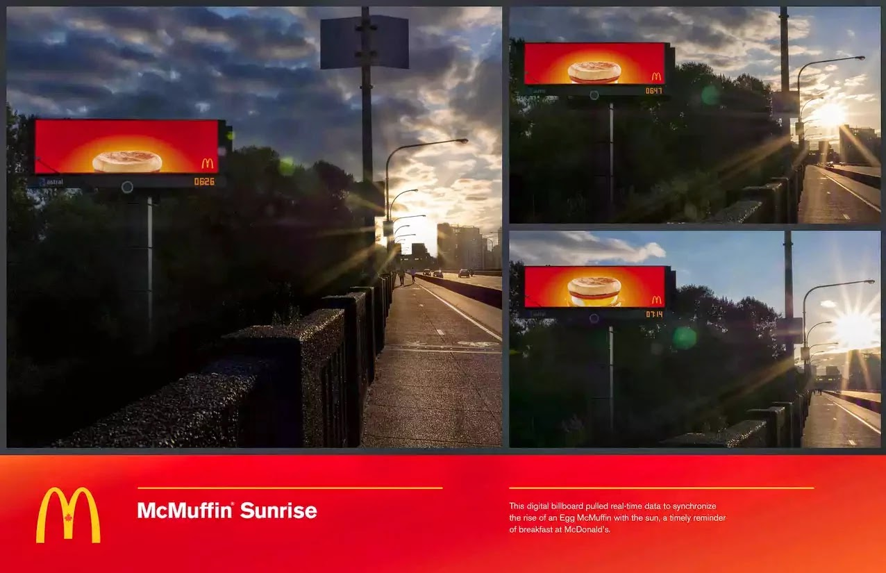 New Ads for McDonald's Celebrate A Child's Birth In Finland and a McMuffin Sunrise in Canada