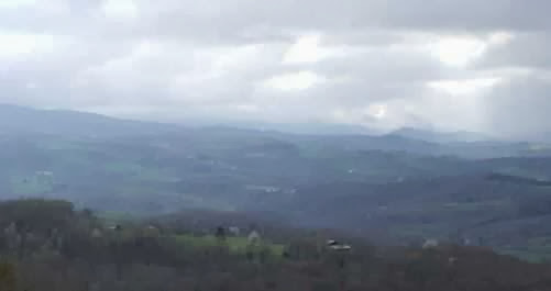 Hügellandschaft bei Mauvezin, Pyrenäen