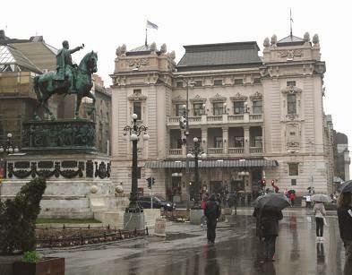 Белград, памятник Князю Михаилу на площади Республики