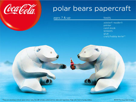 Coca-Cola Bear Papercraft