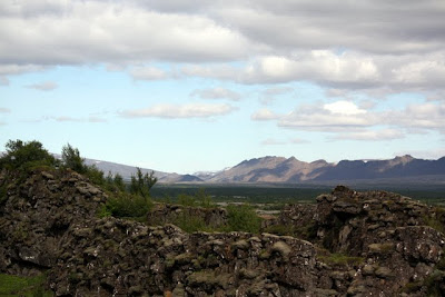 Landscape at Pinghvellir National Park on the Golden Circle in Iceland