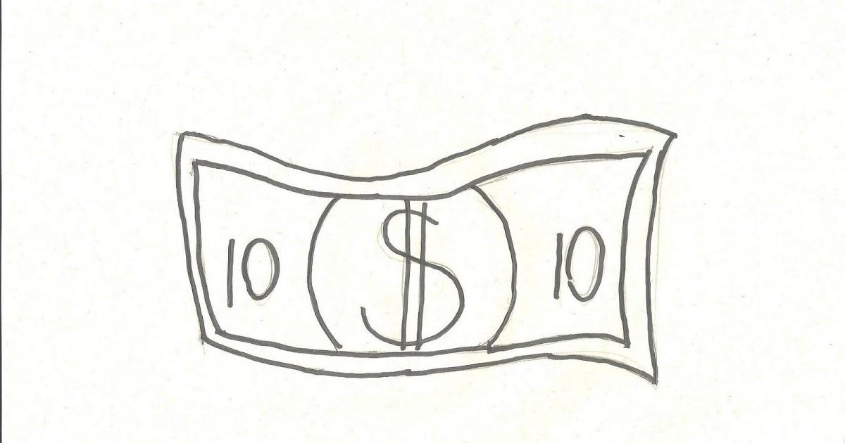 Desenhos Para Colorir: Desenho Para Colorir De Dinheiro