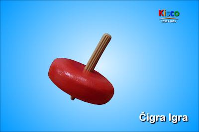 Čigra Igra (jednobojna), drvena igračka za decu