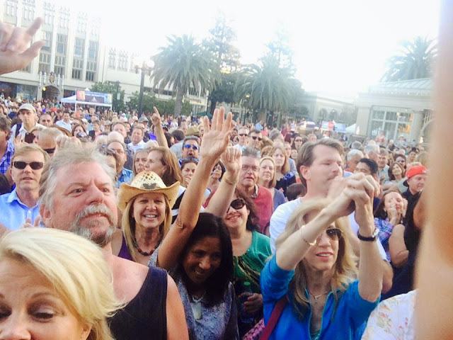 June 13, 2014: Redwood City, CA at the Music on the Square. It was a packed house.