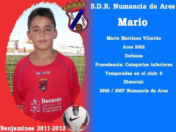 ADR Numancia de Ares. Benxamíns 2011-2012. MARIO.