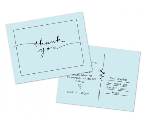 Free Printable Caligraphy Thank You Postcard