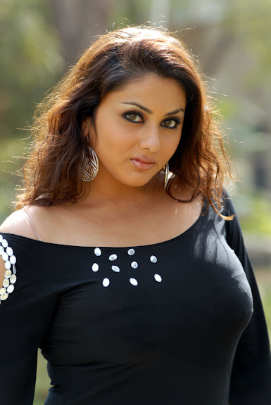 Sweet Cute Namitha New Hot Stills in black Wet