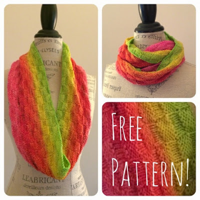 Easy Ombre Cowl Free Knitting Pattern