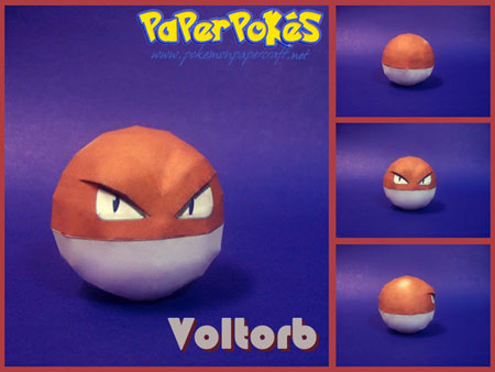 Pokemon Voltorb Papercraft