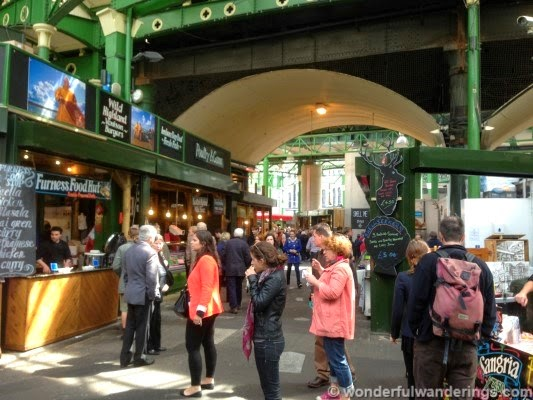 Sampling food at Borough Market; Wonderful Wanderings