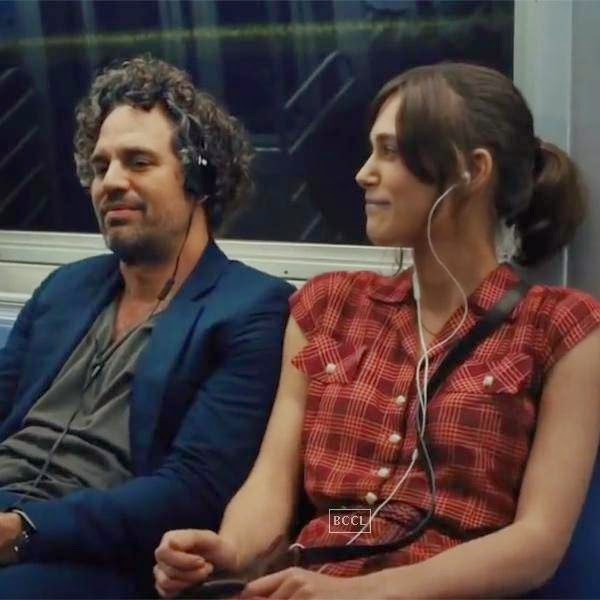 Keira Knightley and Mark Ruffalo in a still from the Hollywood film Begin Again.
