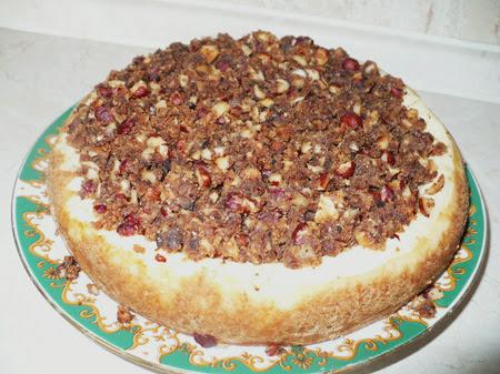 творожный торт в мультиварке с ореховой начинкой