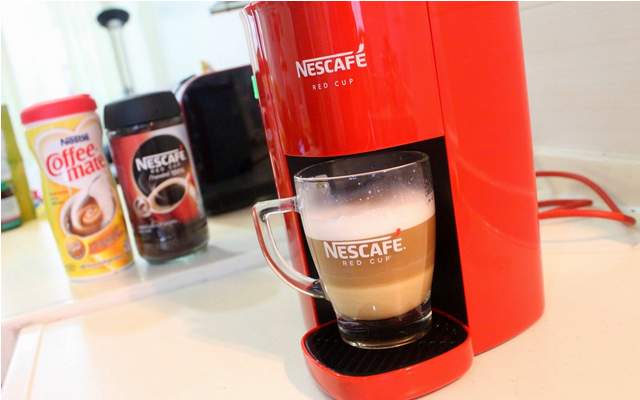 NEW!! Red Cup Nescafe Coffee Maker C (end 4/19/2015 3:15 PM)