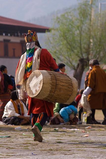 Tambores festival de Paro, Bután