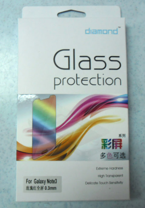 color tempered glass screen protector for galaxy note iii