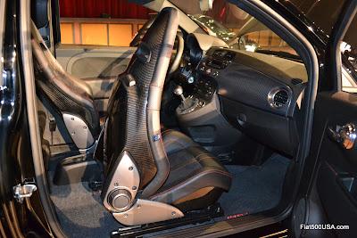 Fiat 500 Abarth Carbon Fiber Sabelt seats