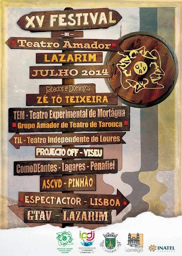 XV Festival de Teatro Amador de Lazarim - Lamego - 2014