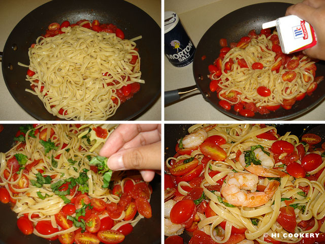 Shrimp, Tomato and Basil Pasta