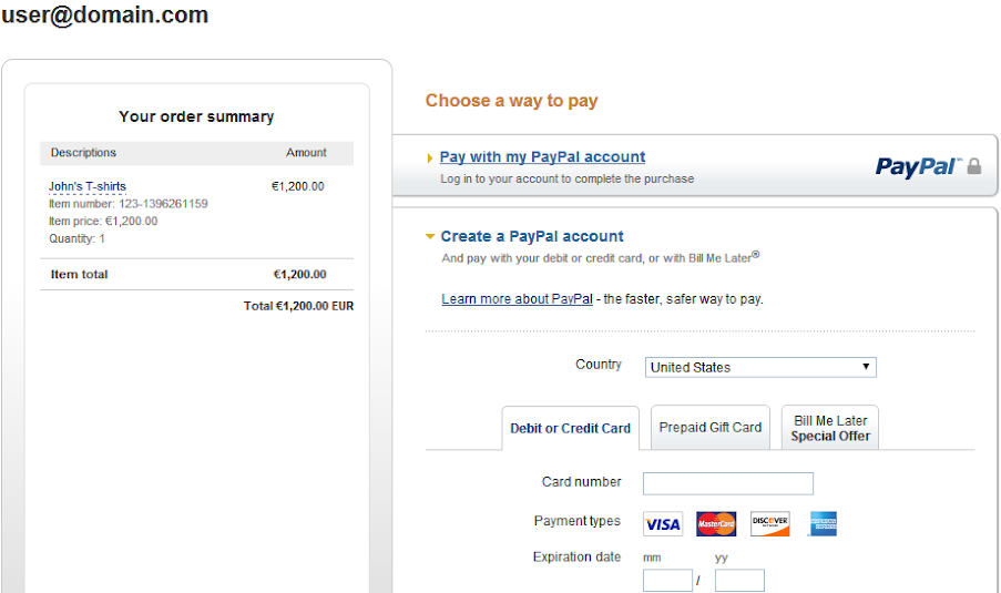 How to create a PayPal payment form with 123ContactForm – New Customer Registration Form Template