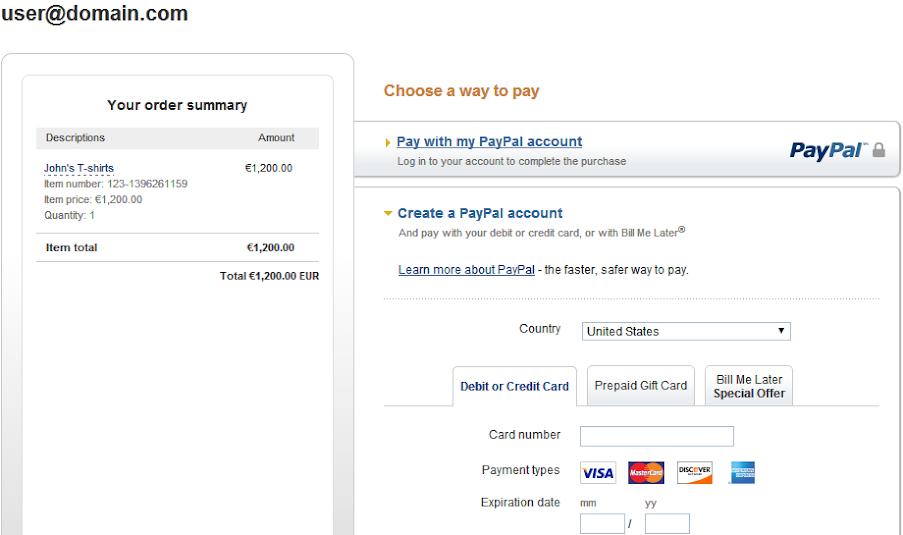 123ContactForm PayPal Integration