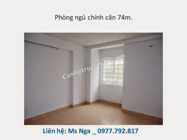 phòng ngủ chính căn 74m, chung cư C5-c6