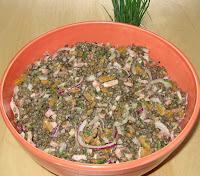 Salade de lentilles vertes du Puy - recette indexée dans les Entrées