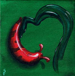 slug love acrylic painting