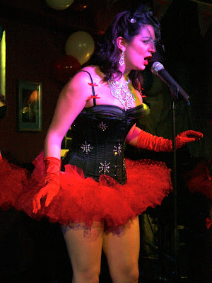 Singer at Volupte cabaret show in London