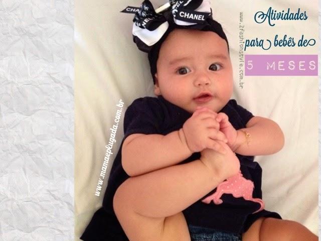 Atividades e brincadeiras para bebês de 5 meses