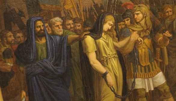 Позор Зенобии во время римского триумфа