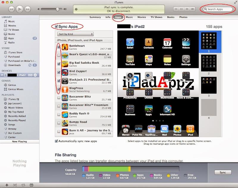 วิธีการ Sync App ลง iPad / iPhone