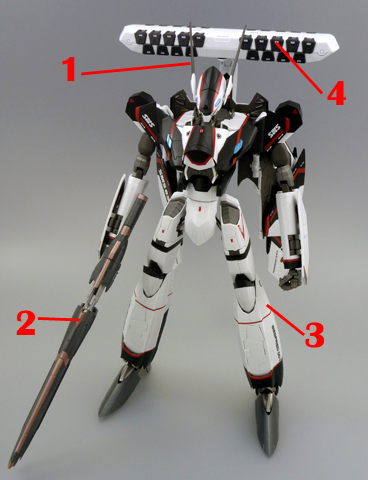 Macross 30 YF-30 Chronos Armament weapon position