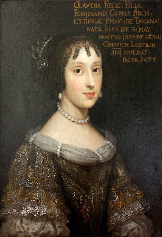 Juan Carreño de Miranda - Claudia Felicitas of Austria