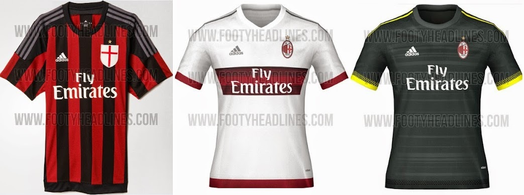 cheap for discount 3ca52 1f8bb World : AC Milan 2015-16 Home Kit Released (away & third ...