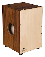 a cajon which Scott Senior plays in Trio Bembe