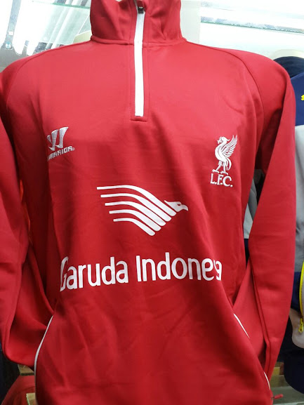 Jual Sweater Liverpool Merah Garuda Indonesia 2014-2015 Terbaru