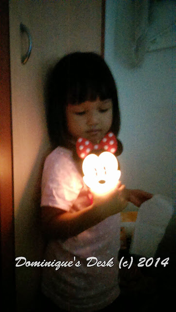 Tiger girl with her charged  night light