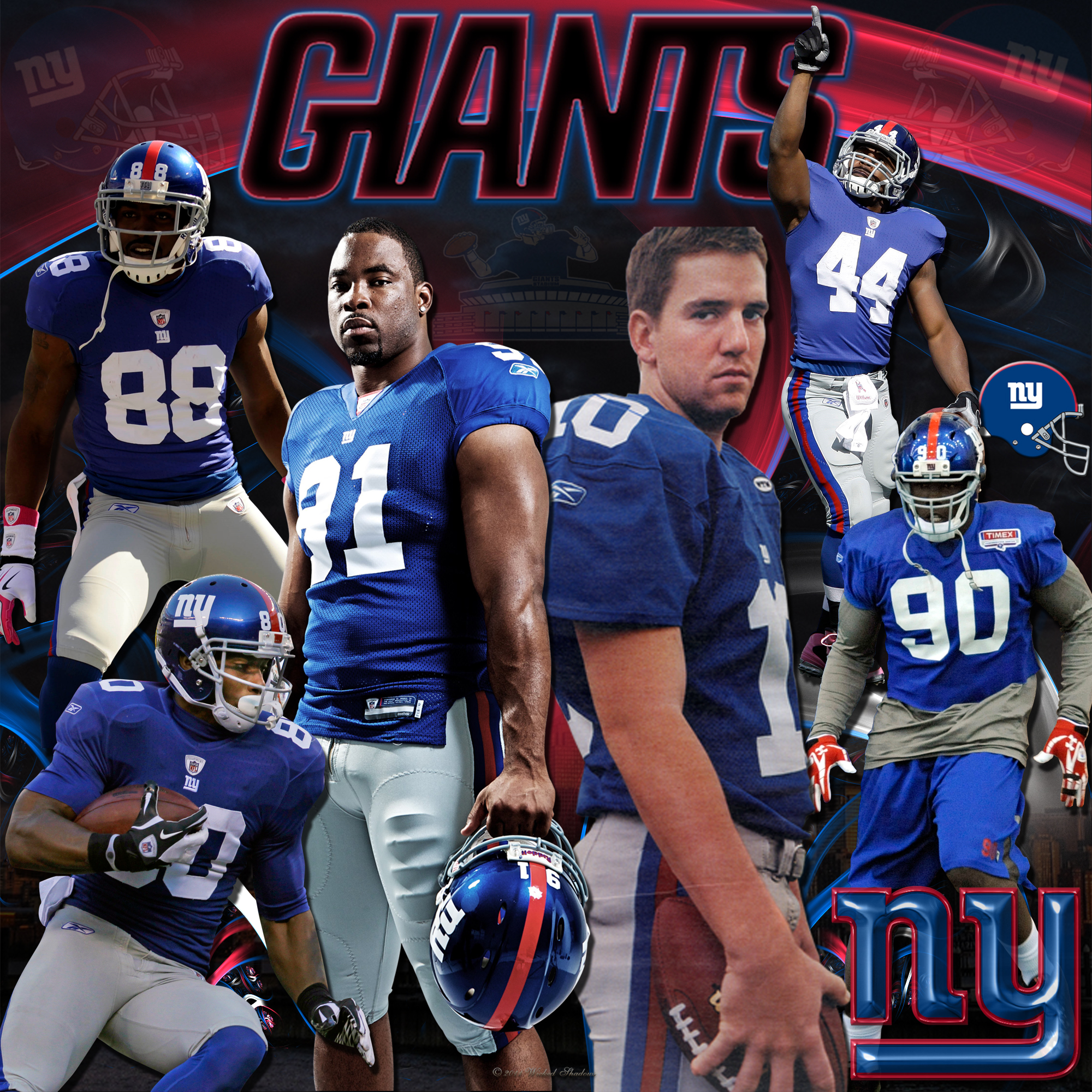 Wallpapers By Wicked Shadows: New York Giants Team Wallpaper