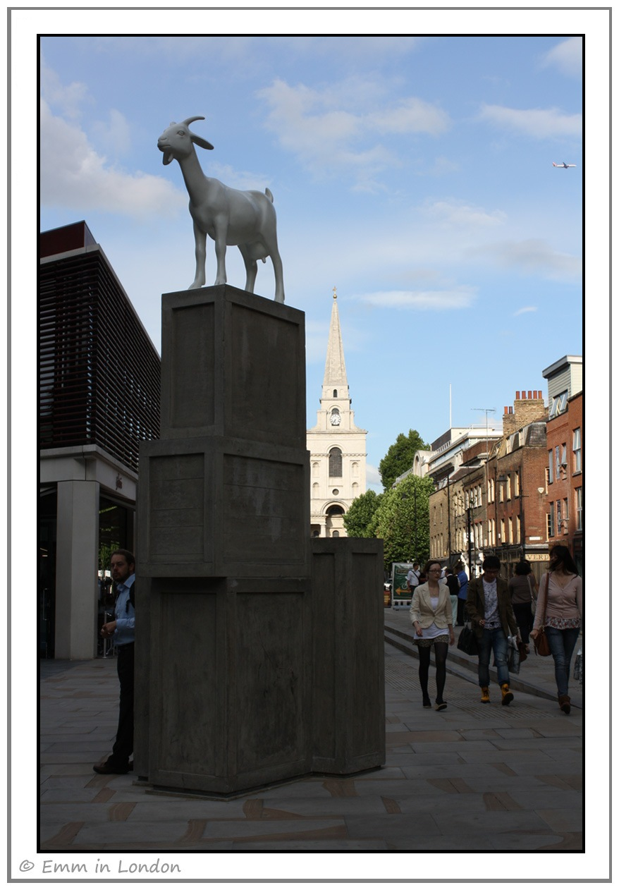 I Goat by Kenny Hunter - Spitalfields