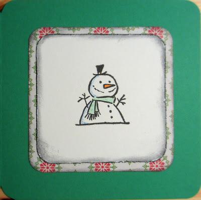 Vihreä lumiukkokortti