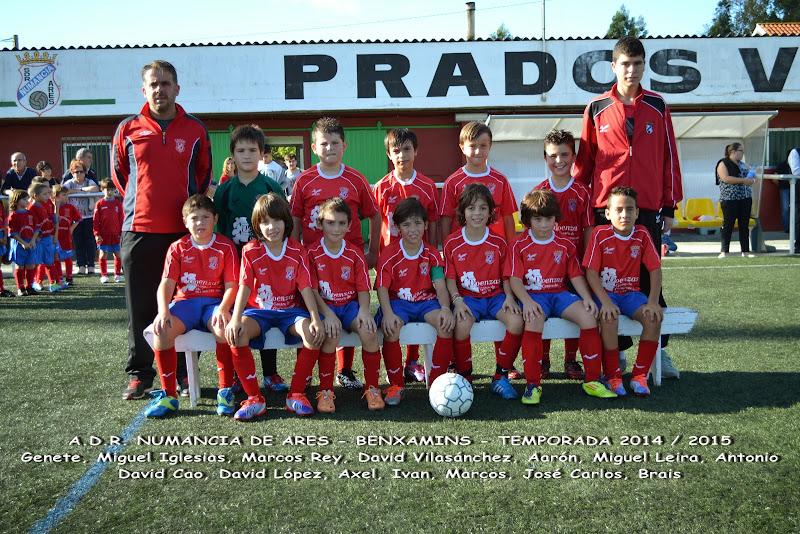 Numancia de Ares. Equipo Benxamín Temporada 2014-2015.