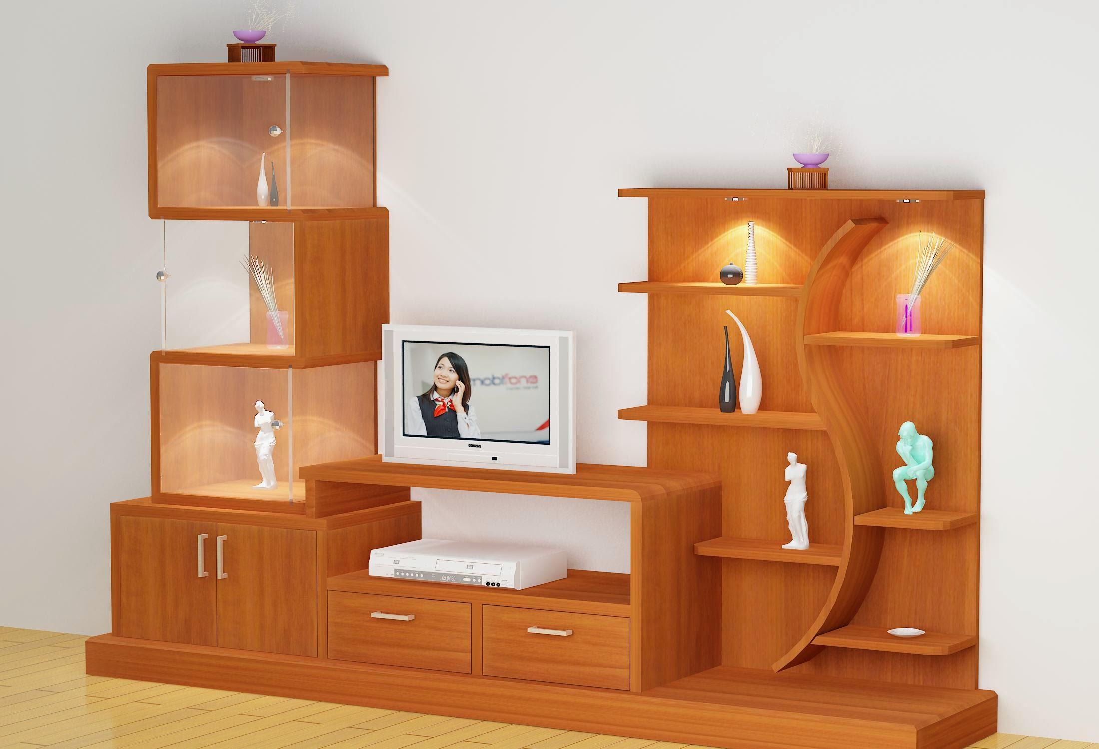 Tủ tivi gỗ trong trang trí nội thất