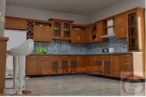 Tủ bếp gỗ tự nhiên BESM0118