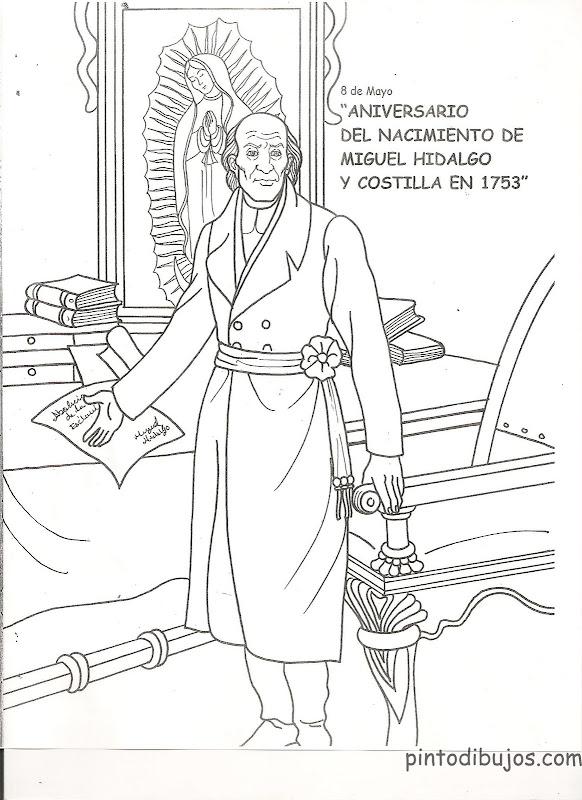 Dibujos de Miguel Hidalgo para colorear
