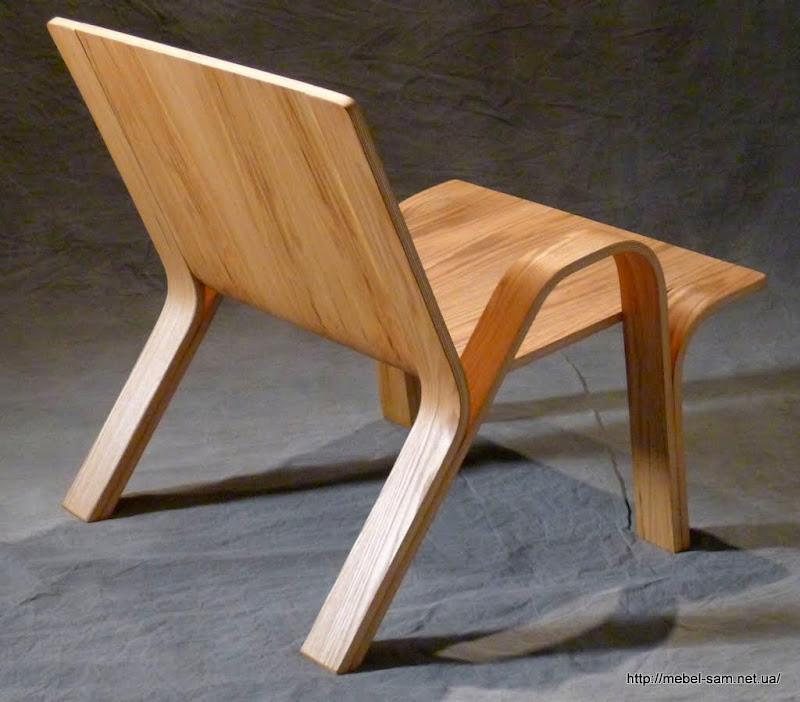 Кресло из фанеры, вид сзади