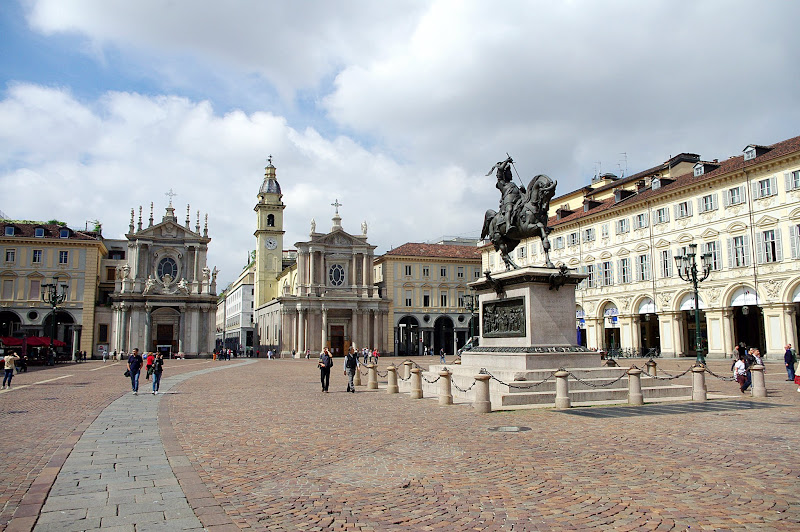 Turín en un día. Plaza San Carlo, Turín