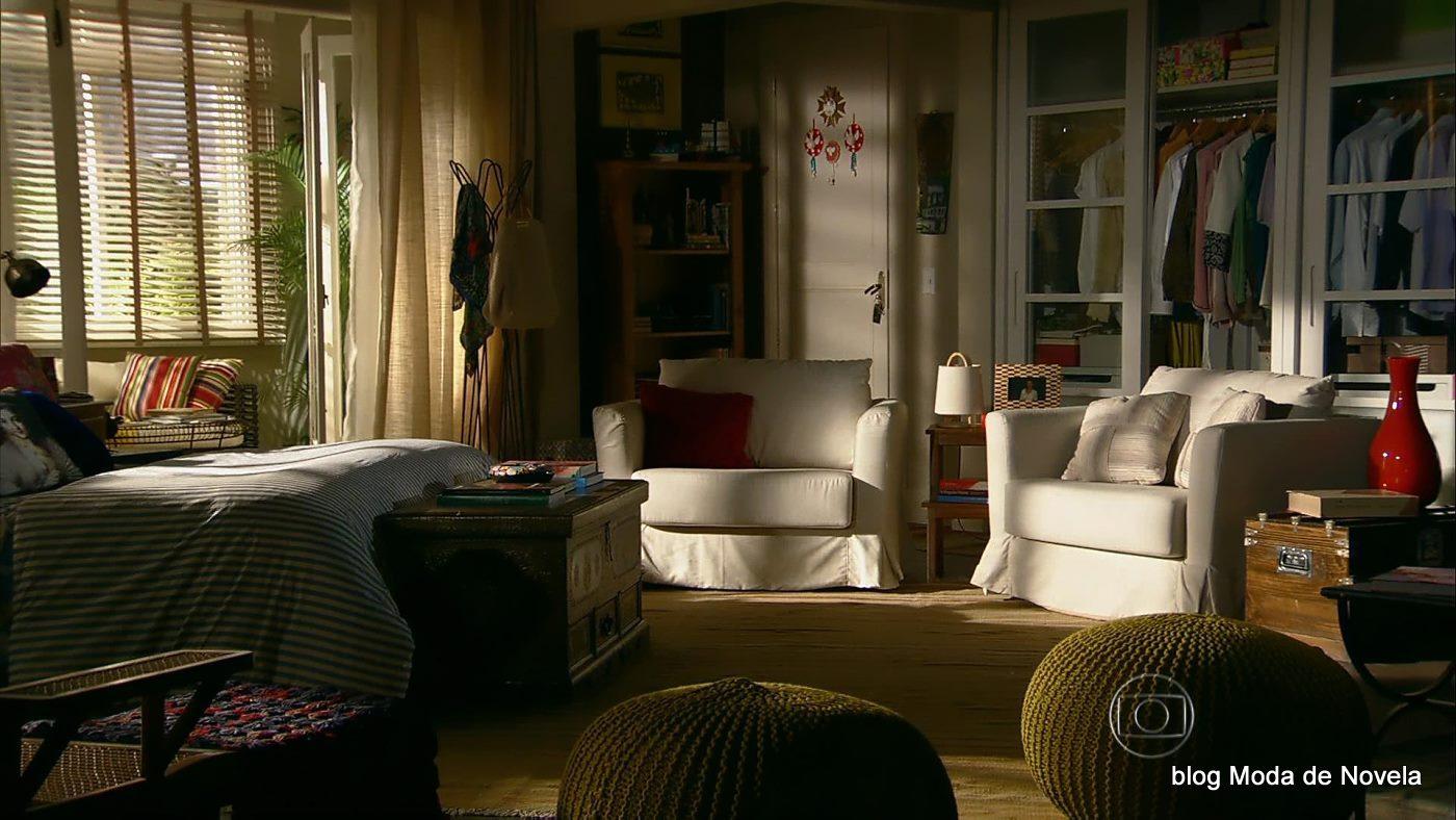 Decoração do quarto da Helena na novela Em Família  Moda de Novela