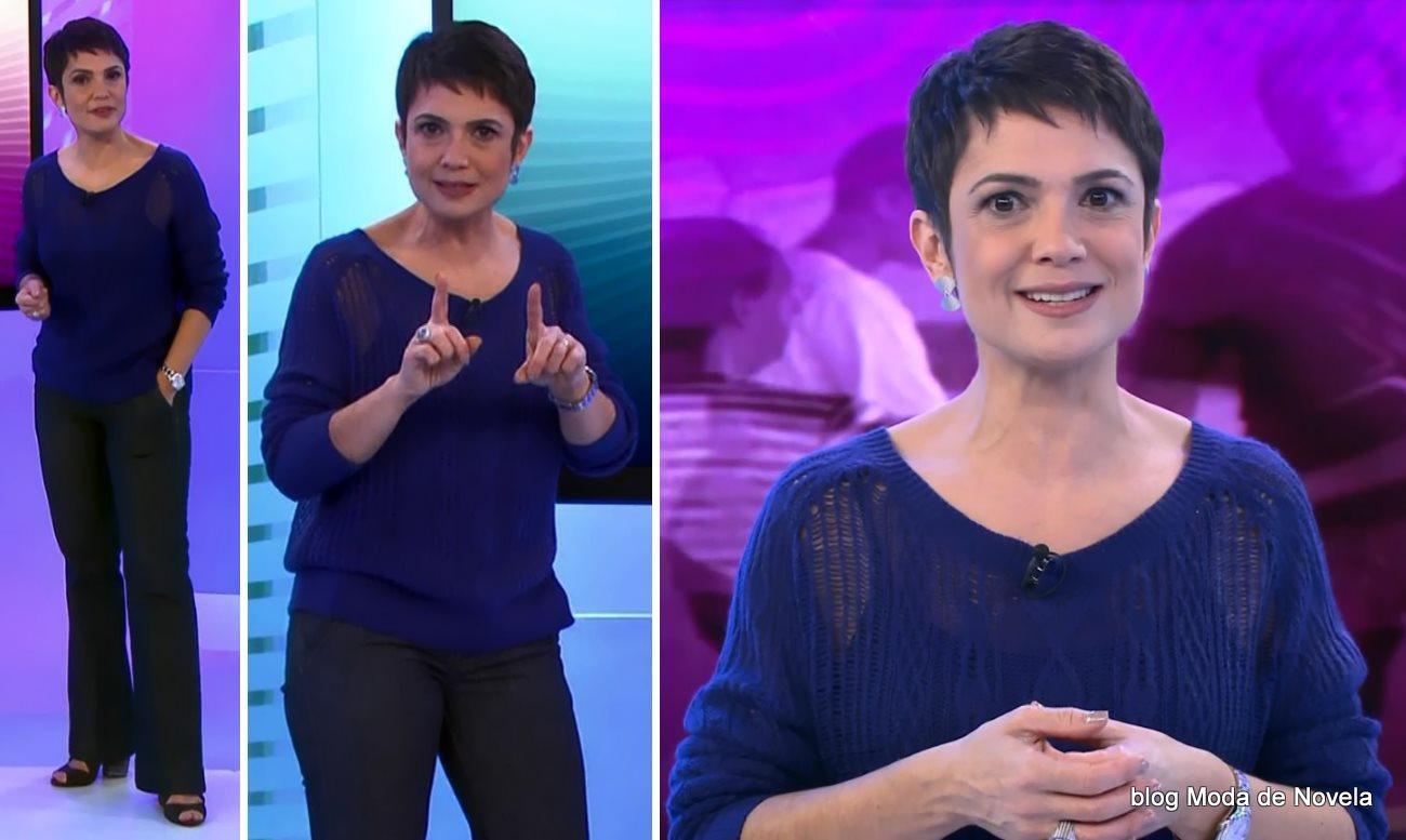 moda do programa Globo Ação - look da Sandra Annenberg dia 19 de julho