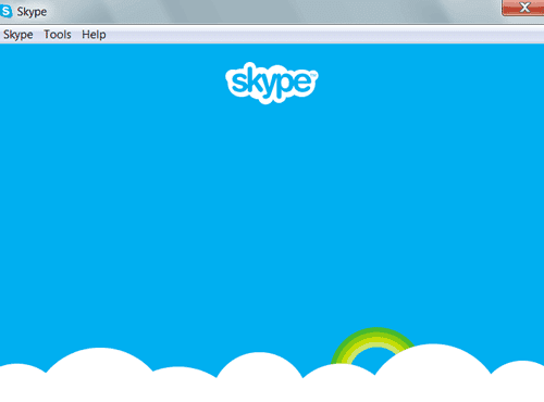 Skype login not show